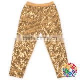Fashion sequin leggings Gold Girls leggings wholesale Sequins legging set