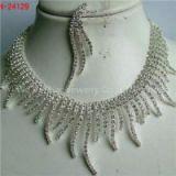 Rhinestone Jewelry Sets For Bridesmaid Rhodium Silver Rhinestone Bridesmaid Necklace