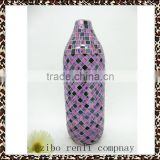Bottle shape Purple Black Handmade Mosaic Decorative Handmade Glassware in Cheap