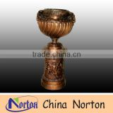 antique large bronze garden flower pot NTBF-FL107S