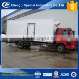 cheapest medium left hand drive faw cold food storage truck 15 ton made in china
