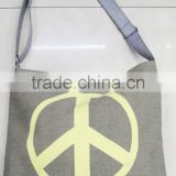Fashion Lady popular canvas peace cotton bag