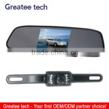 car rearview camera system with 4.3 inch mirror monitor