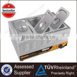 Commercial Kitchen Equipment Electric bain marie food warmer 3 pans for fast food restaurant