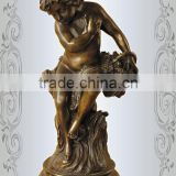 High Quality Casting Bronze Western Nude Boy Statue