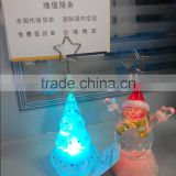 led acrylic plastic mini tree snowman business card holder