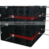 Chinese plastic modular formwork panel system for concrete wall and column and slab in construction and building