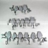 Metal bird Coat Hanger Wrought Iron Rack Robe Hooks