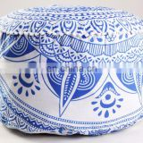 Beautifule 2017 Ombre Mandala Boho Home Decor Ottoman Pouf Cover Indian Blue Color Seating Furniture Footstool
