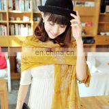 2014lovely style women cheap price polyester pashmina(PP082CL)