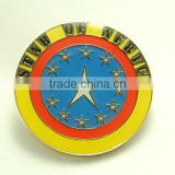 Hard enamel badge