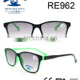 2017 most popular two-tone printed PC reading glasses sunglasses