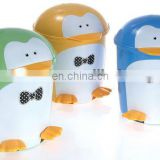 plastic room double animal design trash can