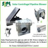 SUNNY solar panel + grid electricity powered 24 hours nonstop centrifugal pipeline air blower ceiling fan