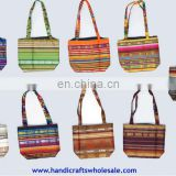 Colorful Medium Beach Bags Unique Wool handbags Handmade Knitting Product Great Exotic Design Purses Novelty Gifts Ecuador