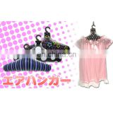 Inflatable cloth hanger for promotional gifts