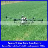 uav drone crop duster 10kg, chinese top quality 8 motors 10L spray drone