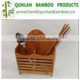 Bamboo stand tube for chopsticks spoon