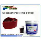 Bordeaux water based pigment paste without resin