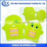 Made in china factory price cartoon baby bath glove,most popular bath glove/bath pad/bath loofah