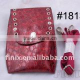 High Quality Wine-Red Color Leather Scissor Holster