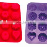 12PCS Different shape Silicone cake baking tray Silicone biscuit and cookie tray