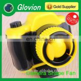 Best seller summer novelty battery Fan Mini battery Fan Camera Shaped Mini battery Fan