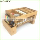 Bamboo Big File Organizer with Pen Holder and Desktop Organizer/Homex_FSC/BSCI Factory