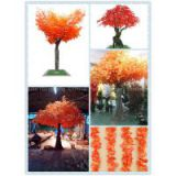 artificial maple tree,imitation red leaves maple tree for landscaping