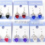 Stud earrings wholesale jewerly sets cheap gold plated heart rhinestone earringJE4056
