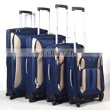 New luggage stock 4pcs set nylon lugage bag travel trolley luggage