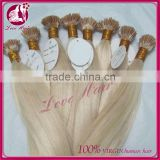 grade 7a virgin 100% unprocessed human hair extension brazilian i tip hair