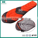 Collapsible mixed color sleeping bag