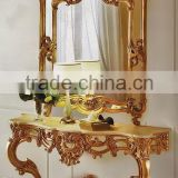 French Style Furniture Consoles For Living Room With Mirror