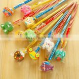 cute cartoon series wooden pencil with eraser stationery set Kid gift set Wholesale