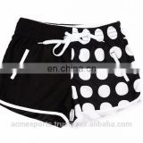 swimming shorts - wholesale new design custom OEM brand board shorts girls swim trunks black and white