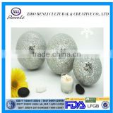 Silvery Crackle Tree Decoration Mirrored Carpet Hollow Glass Sphere