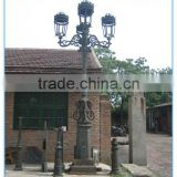 Iron Casting Courtyard Lamp Pole,outdoor light poles,street light post