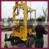 Super machine in Africa!!! deep water well drilling rigs with wheel chassis device