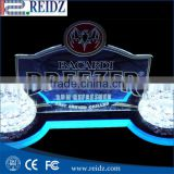 Top selling elegant led bar cheap acrylic bottle display