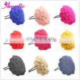 Big Woolen Flower Christmas Headbands