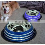 Hand paint dog bowls,steel bowls