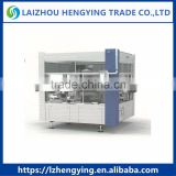 HB3H-30 Fully Automatic Rotary Three Labeling Stations Sticker Bottle Labeling Machine