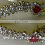 Cubic zircon jewellery Ear cuffs manufacturer, cubic zircon ear jewelery exporter