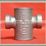 cast iron pipe fittings sanitary cross tapped