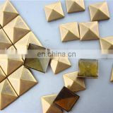 2013 fashion copper round/square silver/gold colorful hot sale wholesale metal hot fix copper stud clothing