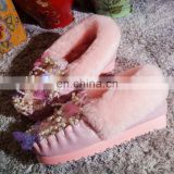 Aidocrystal newest lovely pink girls shoes cheap warm winter boots snow for ladies