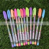 6 color highlighter pen , creative fluorescent gel pens , multi colored highlighter pen
