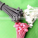 colored PP & Nylon material pearls tie with size 3-9 inches