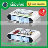 New design table clocks for kids logo print clock funny clock for kids